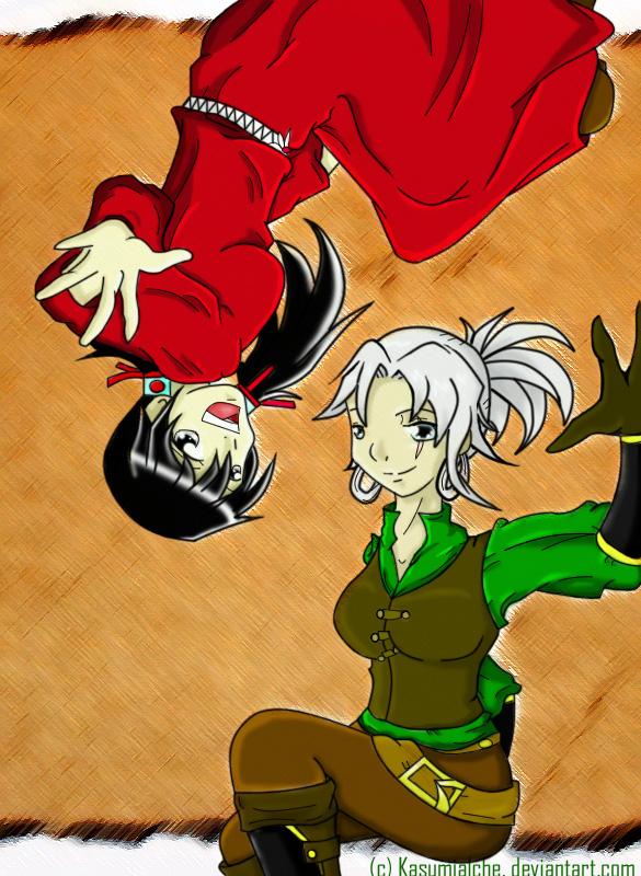 Alanaodh: Kasumi and Yumeko by KasumiAlche