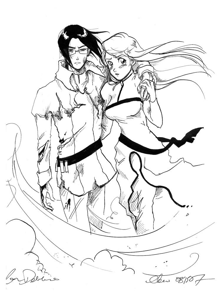 Ishida and Orihime by bigbigtruck