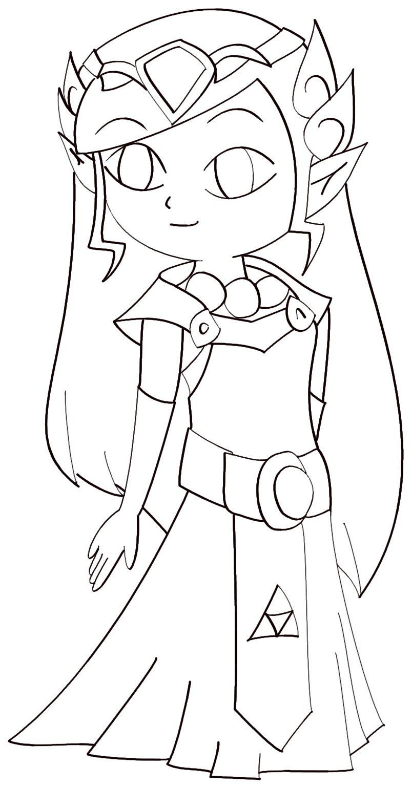 minish cap coloring pages - photo#7