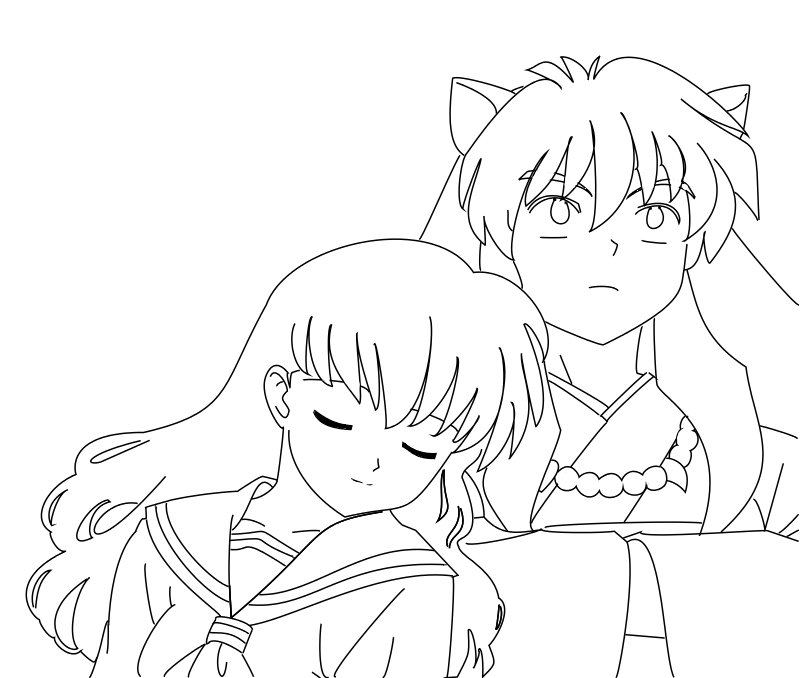 printable inuyasha coloring pages - photo#27