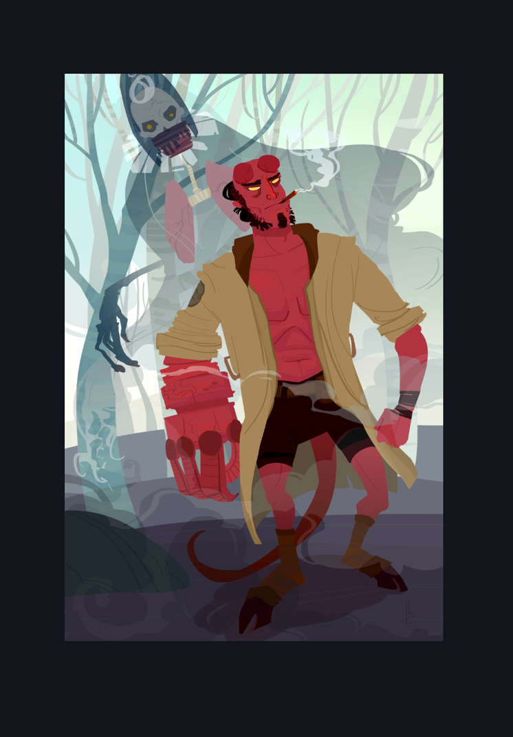 Hellboy and The Lung. by Nafah
