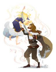 Loki and Sigyn by Nafah