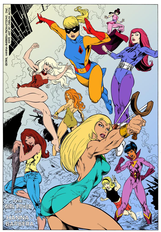Hanna Barbera Super Girls by CarlosMota