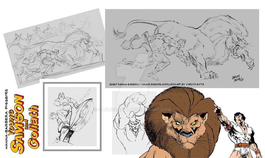 Samson et Goliath by CarlosMota