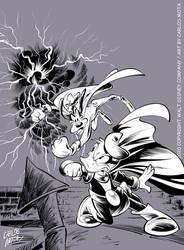 Donald Avenger vs Super Goofy