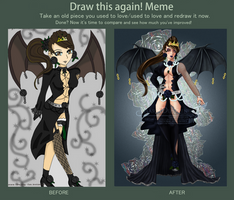 Draw This Again! Meme - Black Rose by Avriia