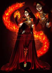 AR: 555th Watcher Special - Adara, Fire Mage [OC]