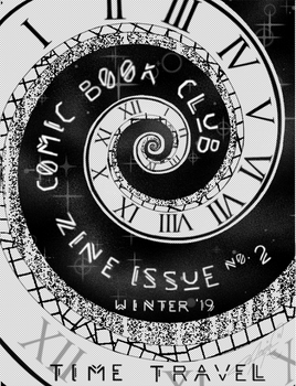 Comic Book Club Zine Cover Winter '19 Time Travel
