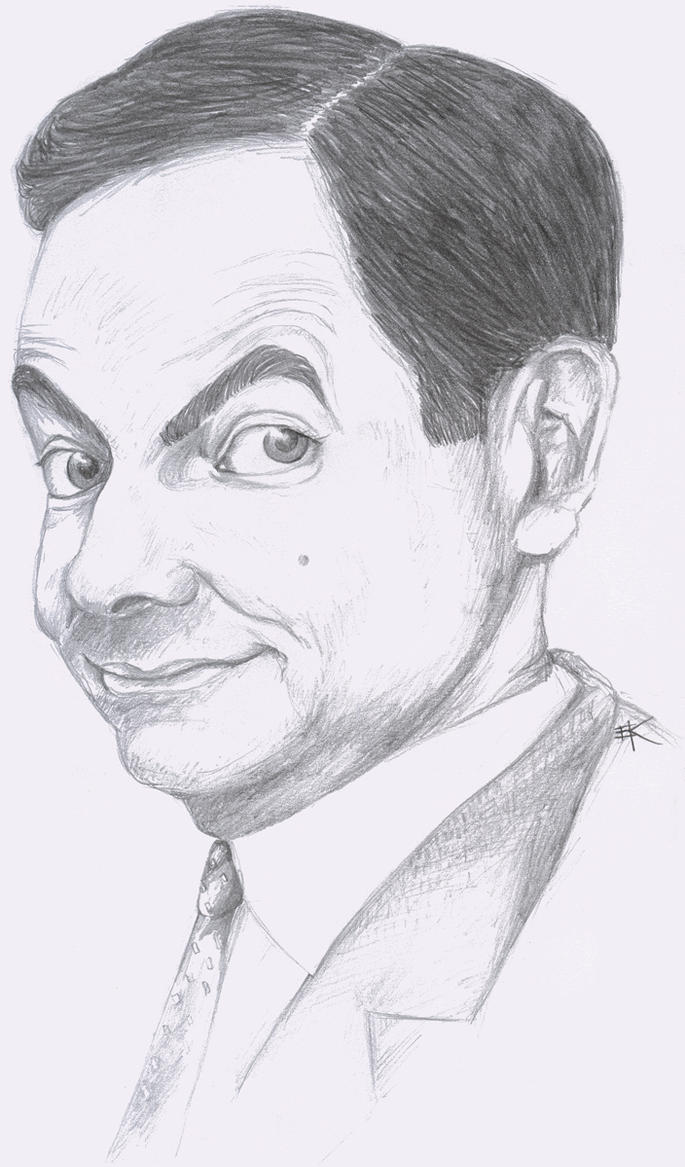 Line Design Art With Mr E : Mr bean drawing by lizievamp on deviantart