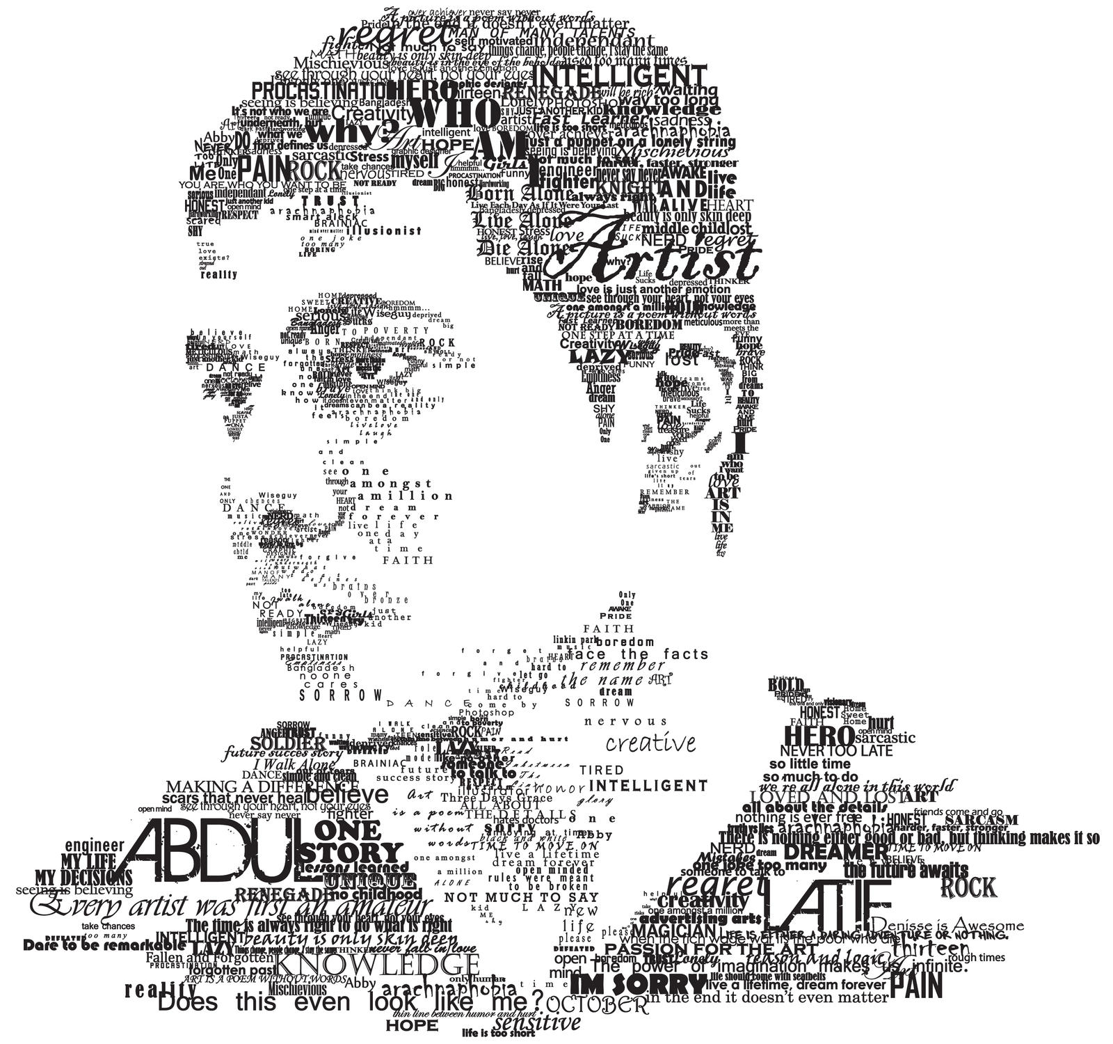 Typography Self Portrait by Renegade-Knight