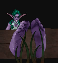Tyrande tickle torture by SirenMu