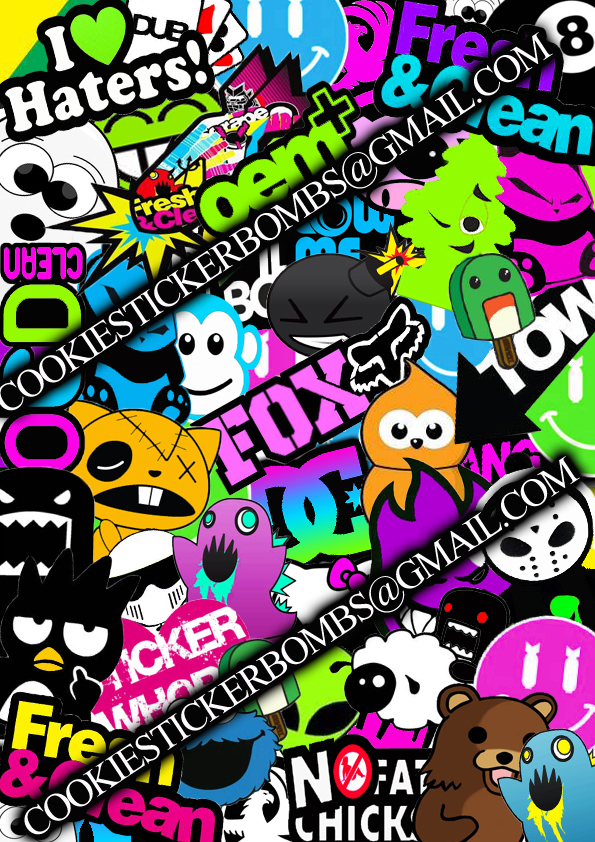 My Sticker Bomb By Cookiestickerbombs