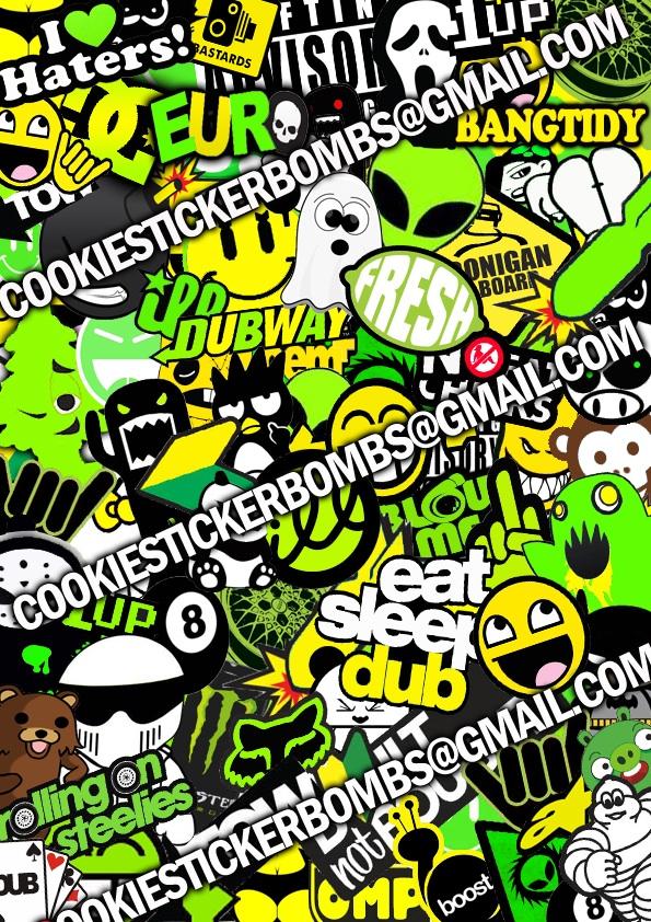 sticker bomb by cookiestickerbombs on deviantart