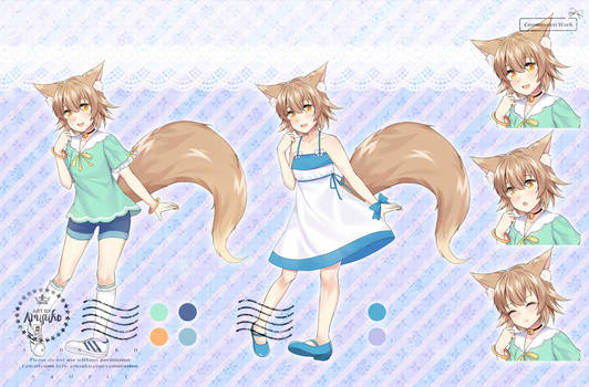 [C]Kitsune Character design with ref sheet