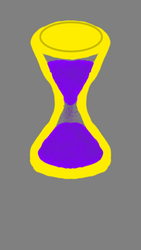 The hourglass of time.