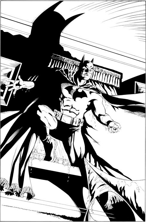 Batman Confidential inks by stevescott