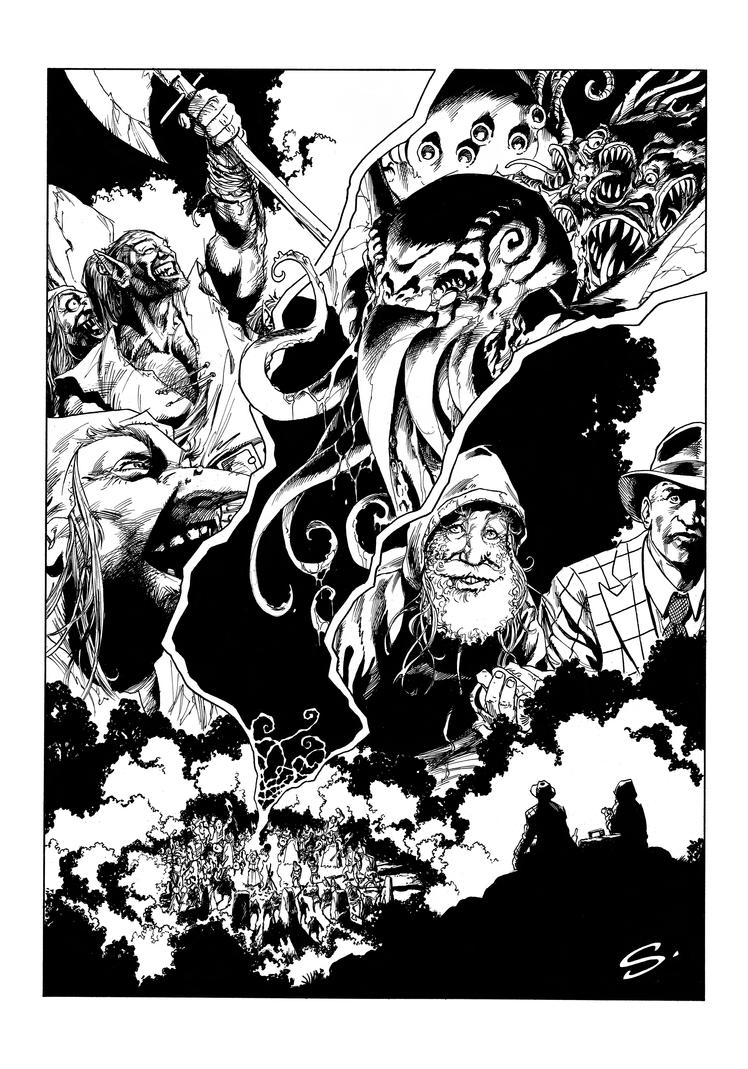 The Call of the Earth page 12 Line art by stevescott