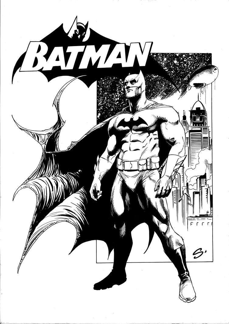 BATMAN with Logo by stevescott