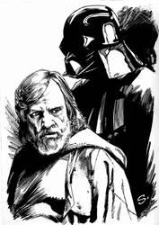 Luke and Vader by stevescott