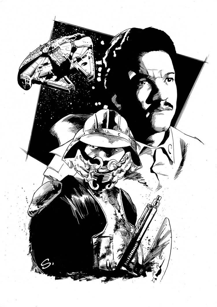 Lando. Commission for a fan. by stevescott