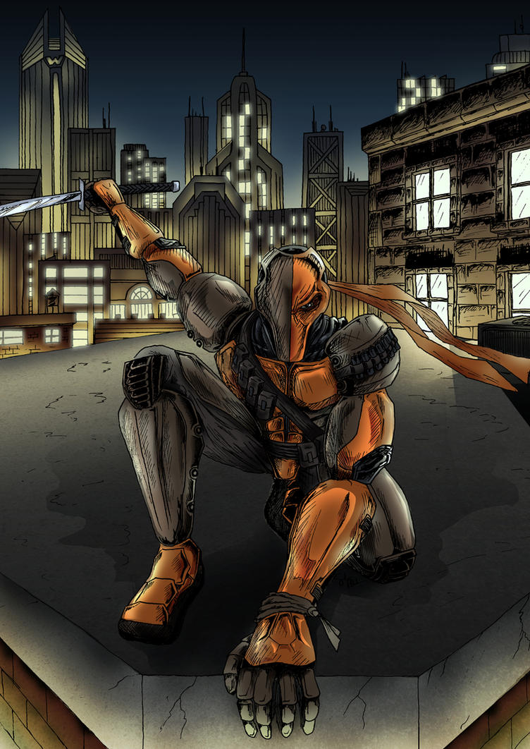 Deathstroke (colored) by ForTuchanka