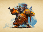 C'Van the copper dragonborn barbarian