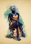 Hunna, the aristocrat half orc druid
