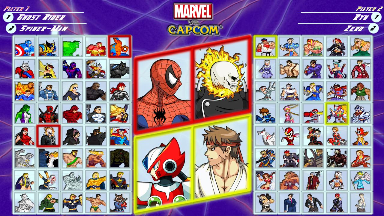 Marvel vs Capcom fan roster by MrJechgo on DeviantArt