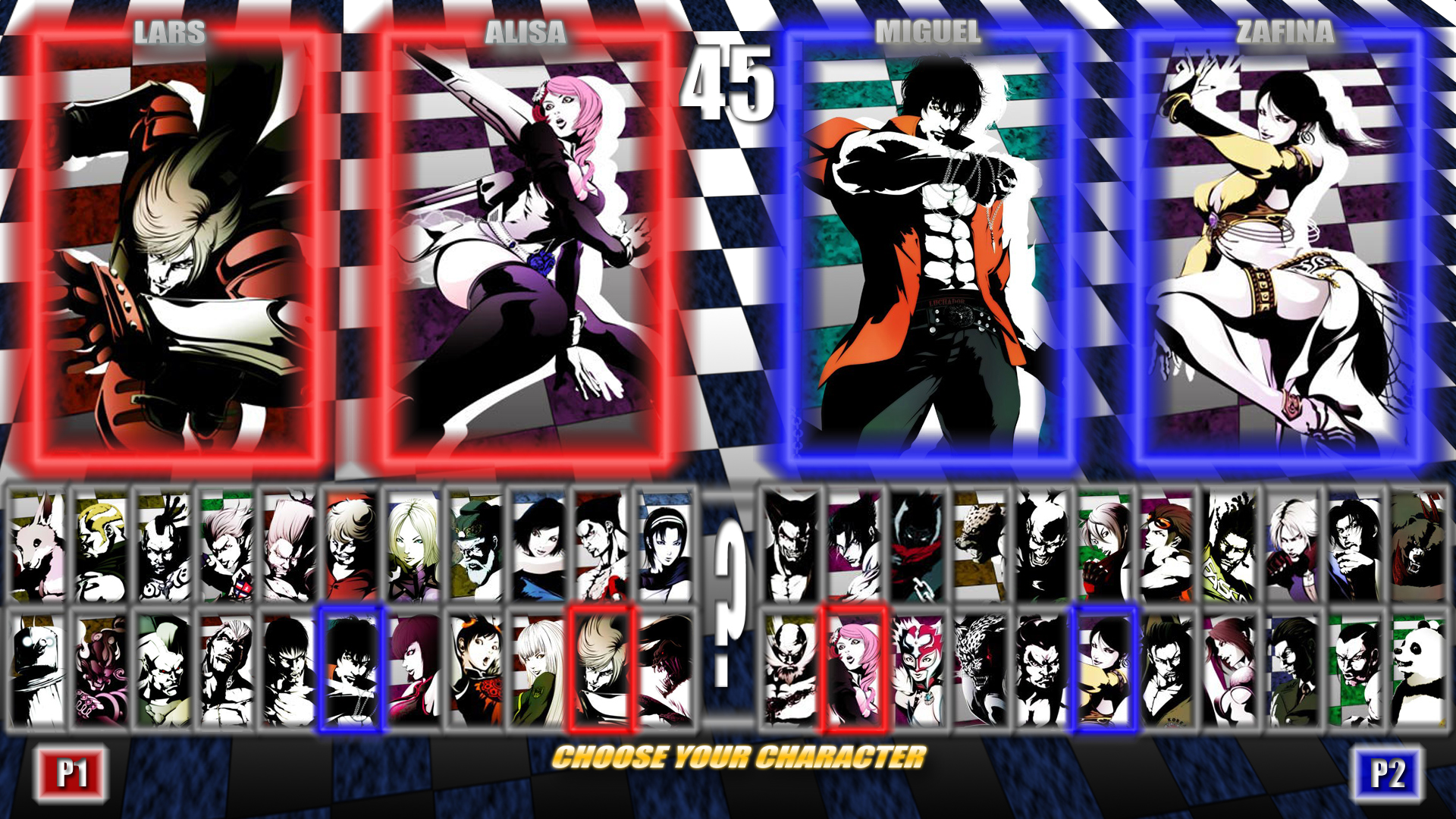 You Can Change The Character Select Screen Tekken Tag Tournament 2