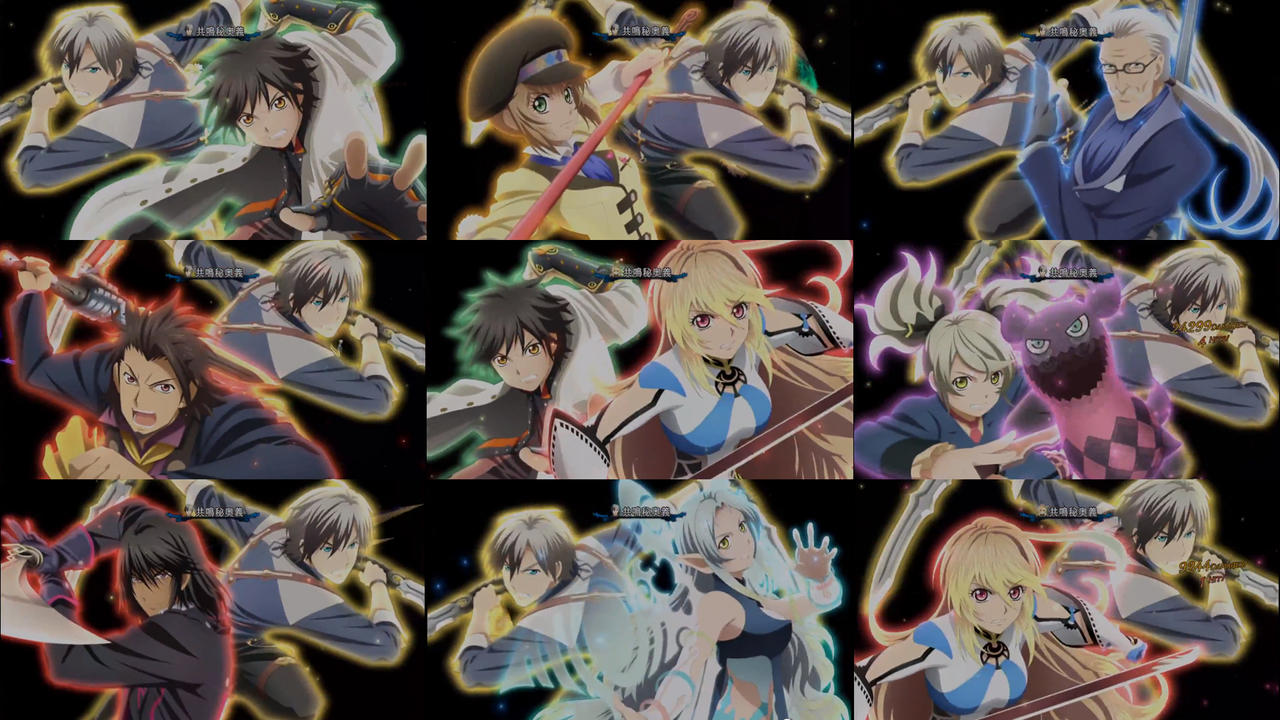 Tales Of Xillia 2 All Party Dual Mystic Artes By Mrjechgo On