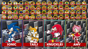 SONIC and SEGA ALL STAR WARZONE select screen
