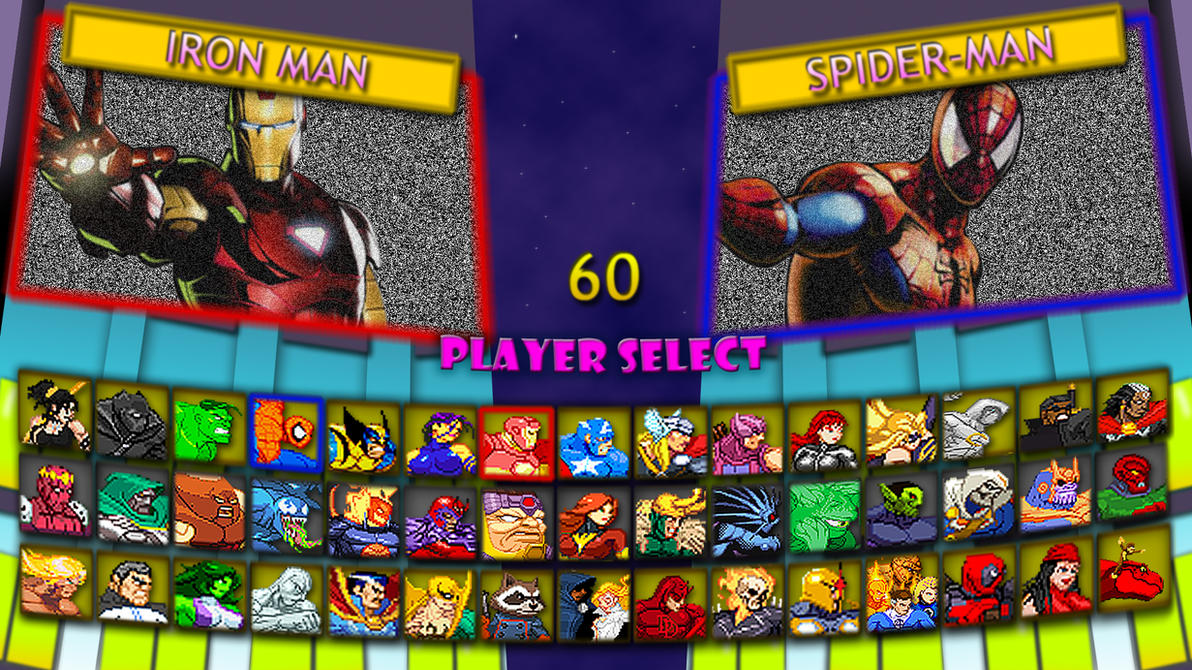 Marvel Super Heroes 2 Fan Character Select Screen By