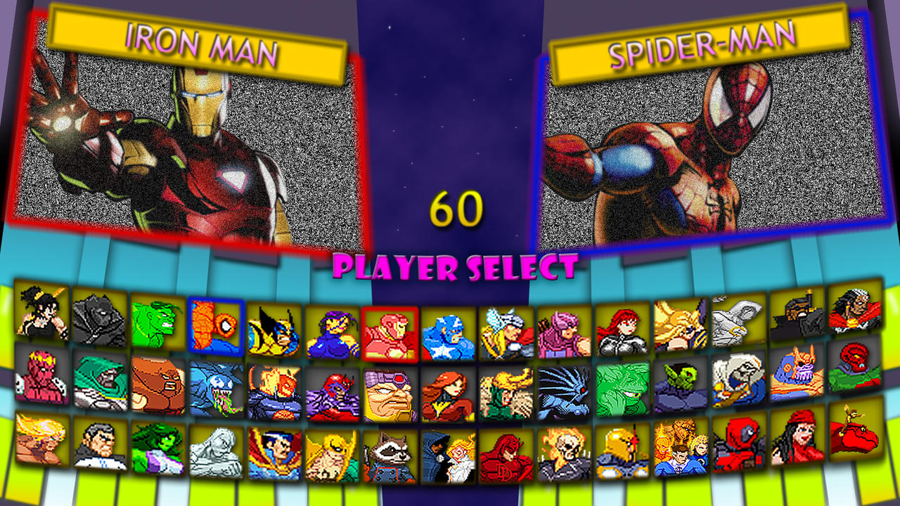 Marvel Super Heroes 2 Fan Character Select Screen By MrJechgo On