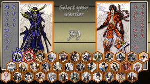 Sengoku Basara X2 select screen