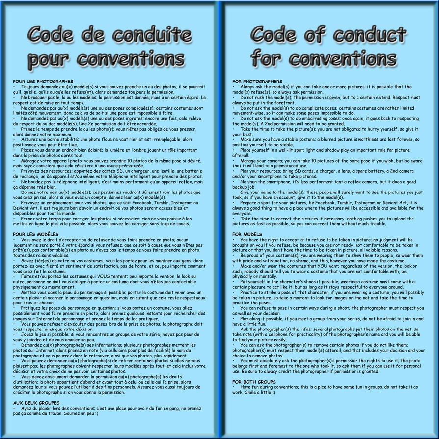 Code de conduite / Code of conduct by MrJechgo