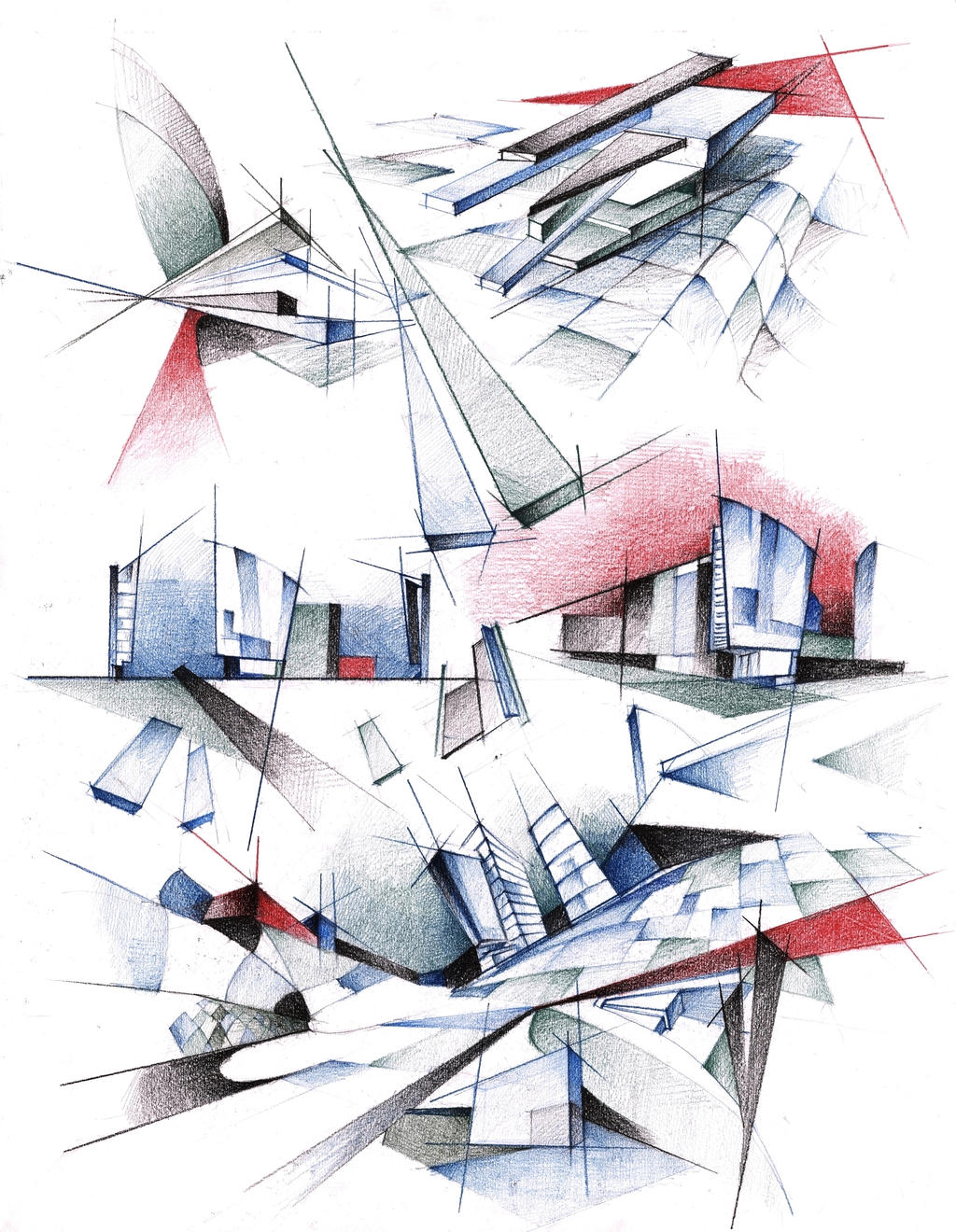Architecture poster by radu26 on deviantart for Architectural drawings online