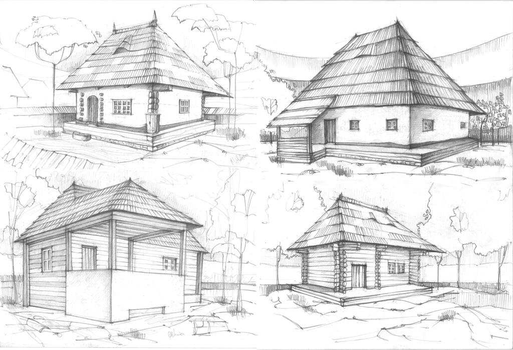 house sketches 2 by radu26 on deviantart