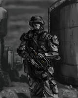 Soldier with p90 by tomsymonds