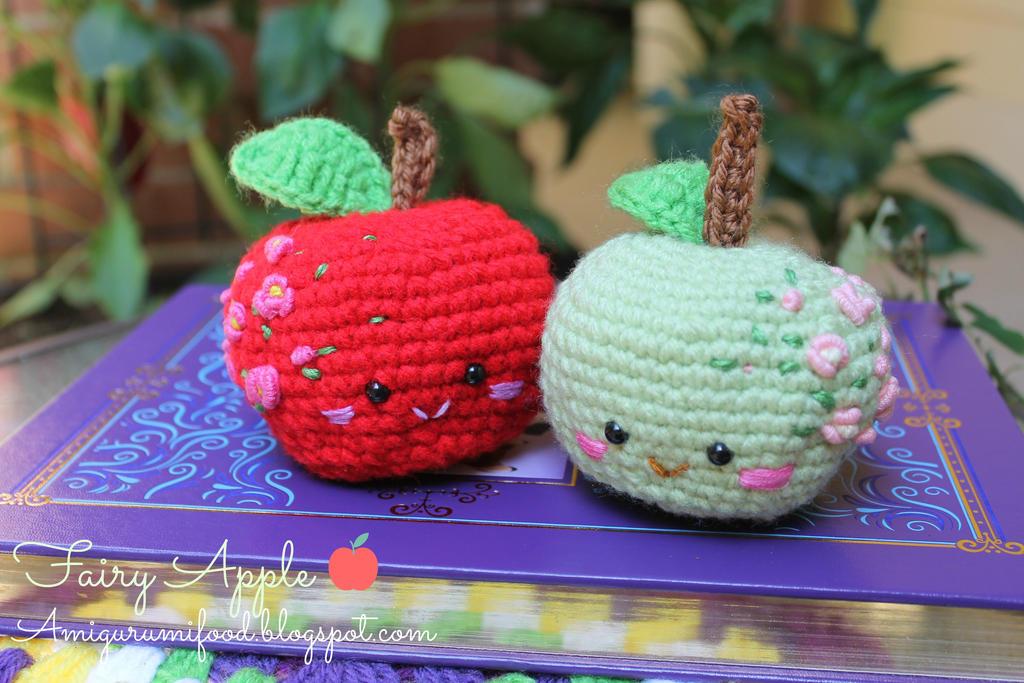 Amigurumi Food : Fairy apple amigurumi food by amigurumifood on deviantart