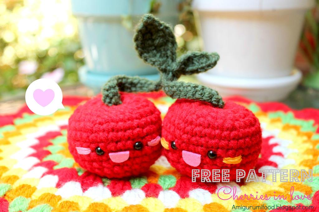 Amigurumi Food : Cherry free pattern from amigurumi food by amigurumifood on