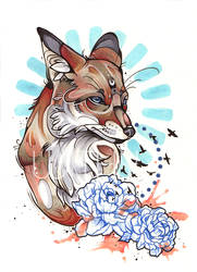 Fox Tattoo by WithyArt