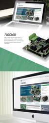 Web design - Audiohms.com CNC tehnology by protpl