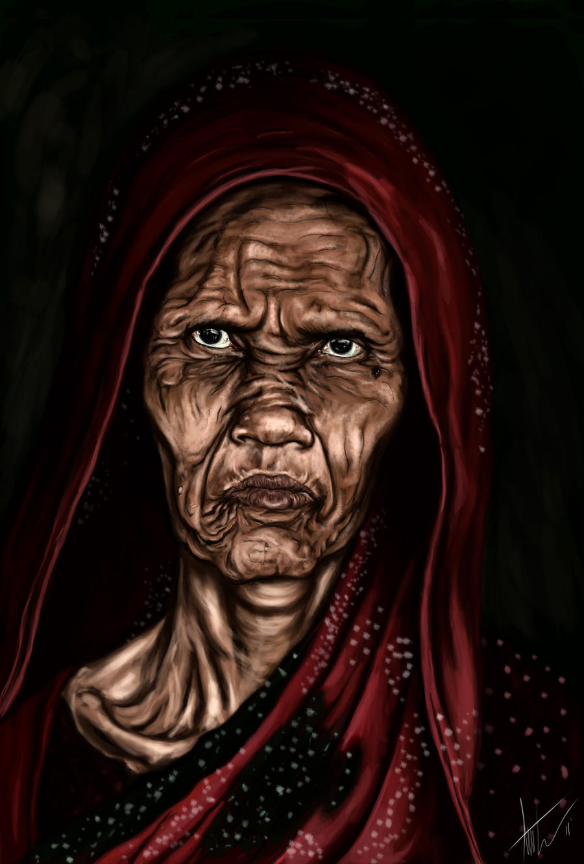 Weary woman by TCUmi777