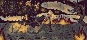 Rick and Morty Surreal Painting MASHUP CHALLENGE by JosephSmith01