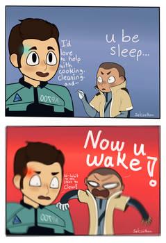 U be sleep now u wake