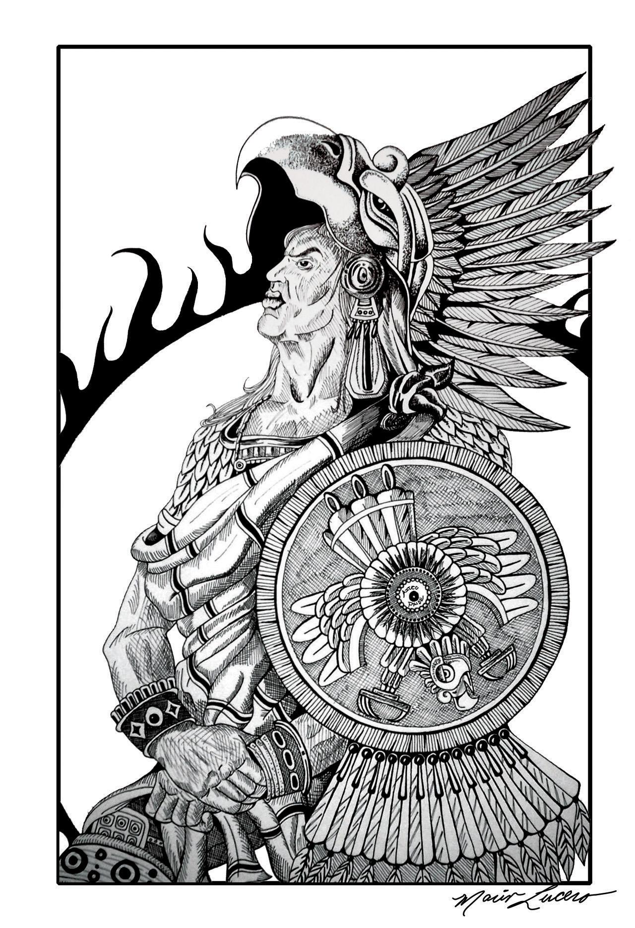 Aztec Pride by SuperMario13 on DeviantArt  Aztec Pencil Drawings