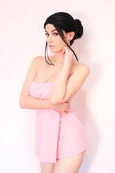 Nico Robin Bath towel cosplay by Meryl-sama