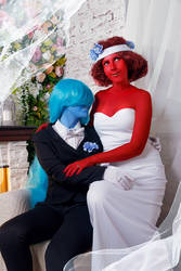 Sapphire and Ruby Wedding Cosplay by Sioxanne