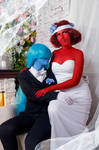 Sapphire and Ruby Wedding Cosplay