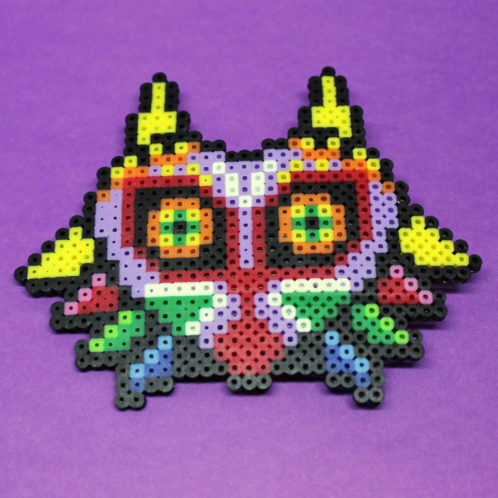 Majora's Mask - Mini Perler Beads by HalfEmptyETank on